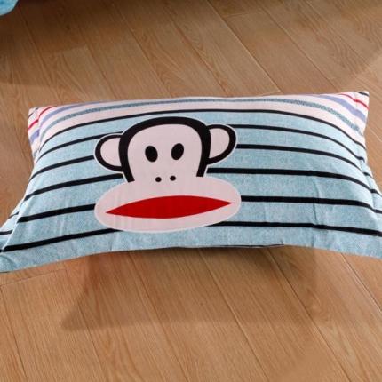 裙笠纺家纺精纺磨毛系列单品-枕套爱上大嘴猴