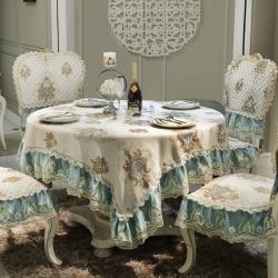 可定制 欧式桌布椅子套田园餐桌布椅垫套装布艺茶几布简约现代