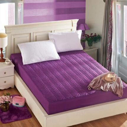 裙笠纺家纺 素色纯色夹棉单品床笠深紫色
