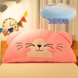 床头靠垫抱枕儿童三角大公主卧室榻榻米软包绣花大靠枕