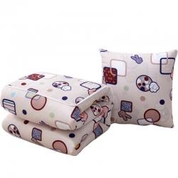 (总)布语家纺 优舒绒抱枕两用靠垫被办公室沙发靠垫