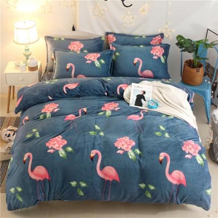 (总)心雅丽家纺 法莱绒四件套床单款