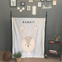 芯贝儿家纺 卡通印花羊羔绒水晶绒毯儿童毯子宝宝盖毯垫毛毯