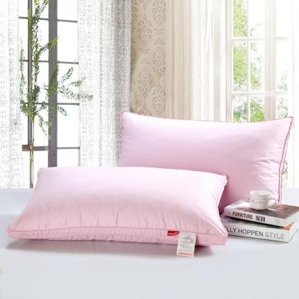 心悦家纺 粉色鹅绒枕