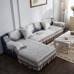 爱美丽家纺 舒适柔软耐用时尚潮流沙发垫欧陆风情兰