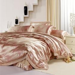 梦巢家纺 柔丝棉提花四件套床上用品套件