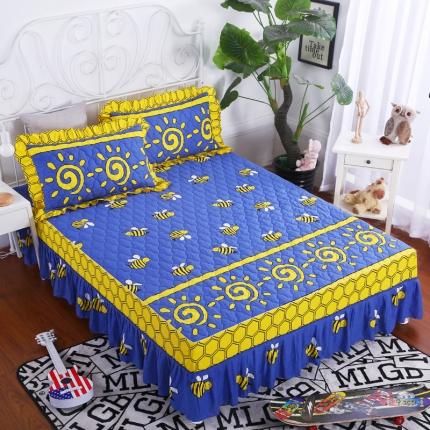 麦蕾迪家居 全棉夹棉床裙 蜂与蜜