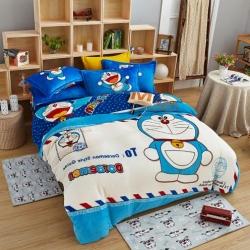 (总)人人爱家纺 卡通KT猫法莱绒四件套床单款