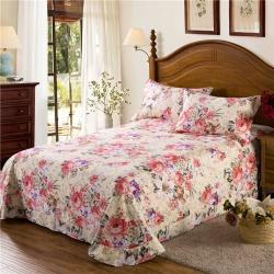 艾羽家纺 全棉高级磨毛澳棉系列单品床单 花海绽放