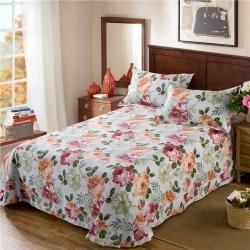 艾羽家纺 全棉高级磨毛澳棉系列单品床单 春季绽放