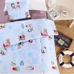 屹�k家纺 优舒绒印花抱枕被靠垫被两用抱枕被子 中国风-蓝