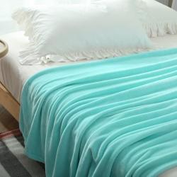 (总)来菲家纺 纯色金貂绒毛毯法莱绒毯子素色绒毯