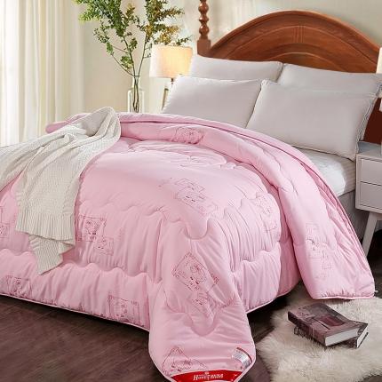 圣卓家纺 加厚保暖羊毛被粉色