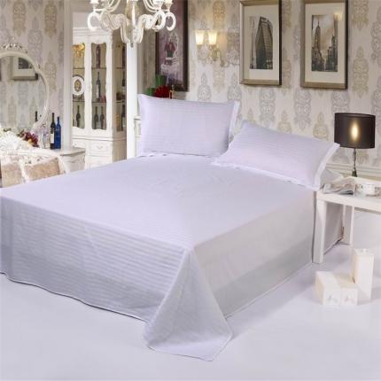 (总)清怡家纺 全棉缎条套件单品床单