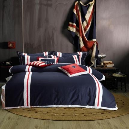 纯优家纺 美式英伦纯棉活性四件套罗马假日
