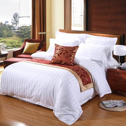 清怡家纺 全棉贡缎五星级酒店宾馆四件套系列 40S加密三公分