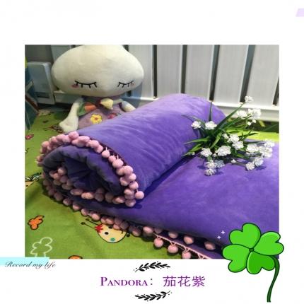 纯优家纺 Pandora潘多拉魔法毯子(单被套)茄花紫