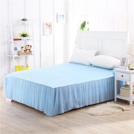 123家纺 单品纯色床裙蓝色