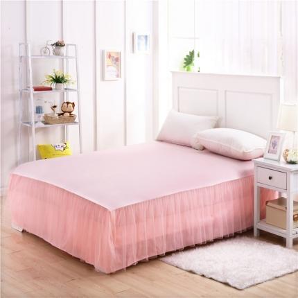 123家纺 单品纯色床裙粉红色