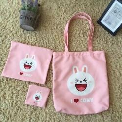 澳鼠家纺 line卡哇伊宝宝三件套粉色 粉色 三件套