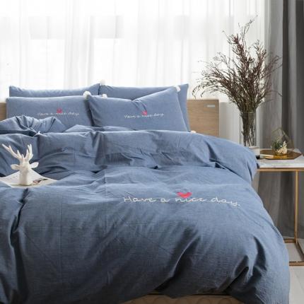 (总)杰米家纺 水洗棉安妮系列四件套床笠款