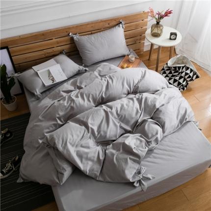 杰米家纺 长绒棉dearlife系列四件套床单款 银
