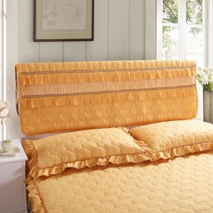 麦蕾迪家居 磨毛夹棉床头罩黄色
