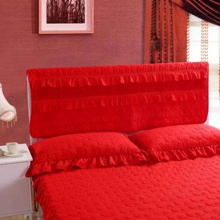 麦蕾迪家居 磨毛夹棉床头罩红色