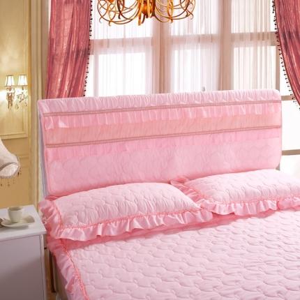 麦蕾迪家居 磨毛夹棉床头罩粉红色