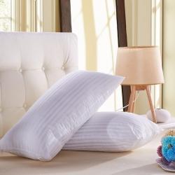 艾尚家居 赠品礼品枕A-7段条白色枕头