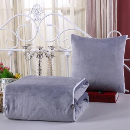 甜家美居 宝宝水晶绒多功能一体抱枕被银灰色