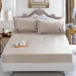牛氏席铺 火鸟-灰 可水洗机洗可折叠刺绣床笠床包冰丝席凉席
