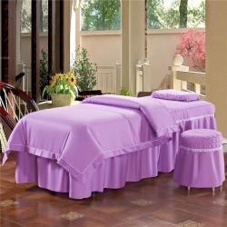 全棉纯棉美容床罩四件套