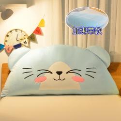 床头靠垫抱枕儿童三角大靠垫公主卧室榻榻米软包绣花大靠枕