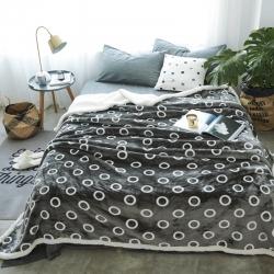 来菲毛毯新款复合印花羊羔绒毯子加厚双层冬季床单盖毯瑞德