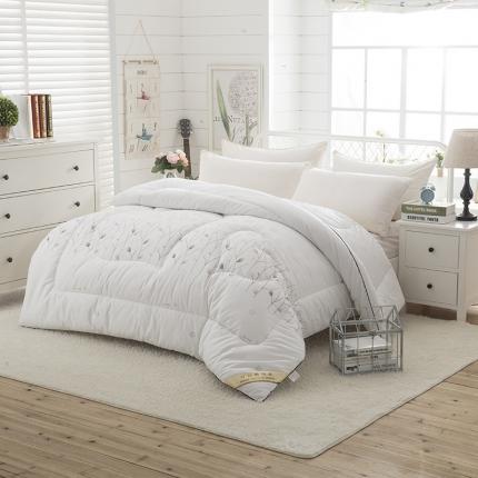 全棉暖冬被         花间物语--白色
