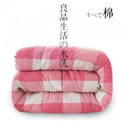 (总)立奥 全棉水洗棉冬被加厚保暖被芯单人双人纯棉被子棉被