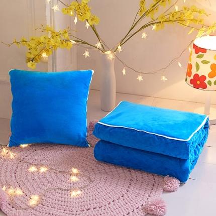 水晶绒靠垫被纯色毛绒抱枕被 沙发靠垫空调被抱枕两用批发直供