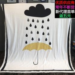 (总)萝莉家纺 卡通毯子法兰绒儿童盖毯珊瑚绒毛毯幼儿园午睡毯