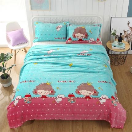 公主梦 36个法莱绒毛毯【有同款被套法莱绒四件套】