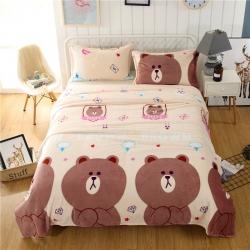 萌宠熊宝  36个法莱绒毛毯【有同款被套法莱绒四件套】