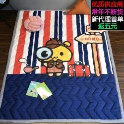 萝莉家纺 儿童宝宝爬爬垫棉质印花地垫儿童游戏垫健康环保沙发垫