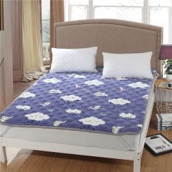 水晶宝宝绒床垫 防滑保暖床褥床护垫可机洗软垫薄垫榻榻米云朵