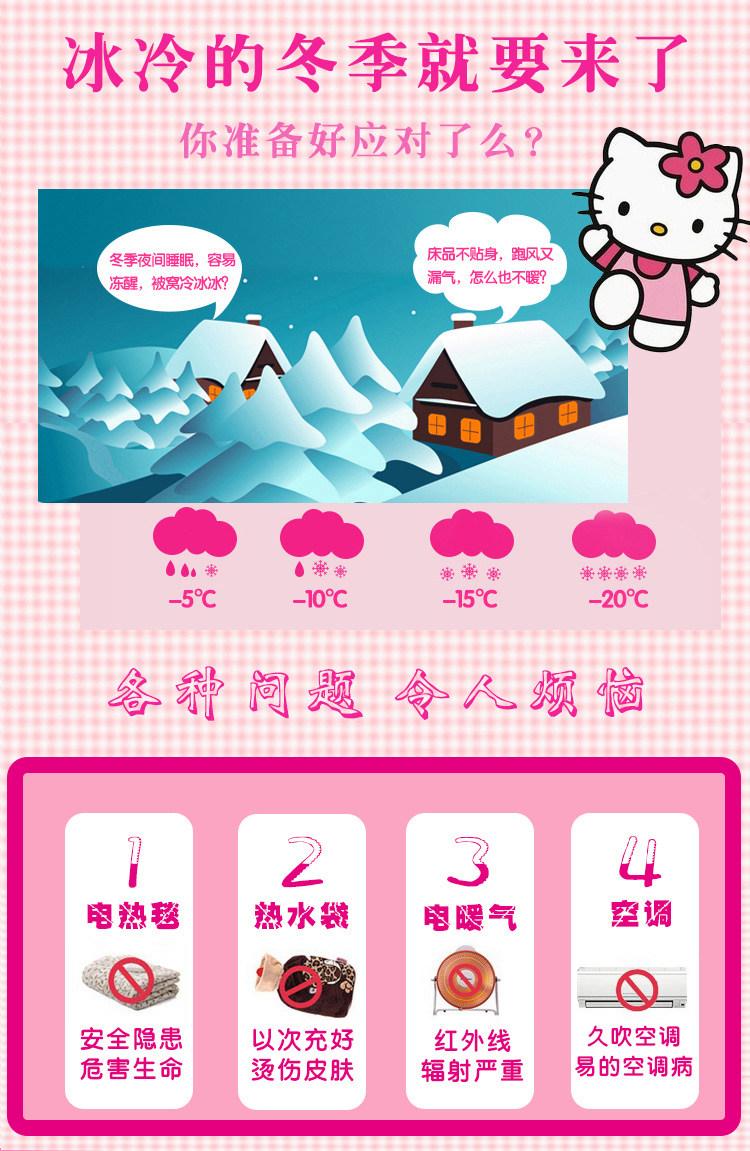 南通家纺 2020秋冬正版授权KT水晶绒四件套床笠款(图4)