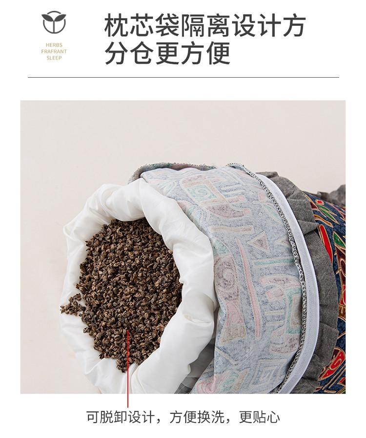 新款全棉老粗布花边荞麦枕方枕(35*55)(图10)