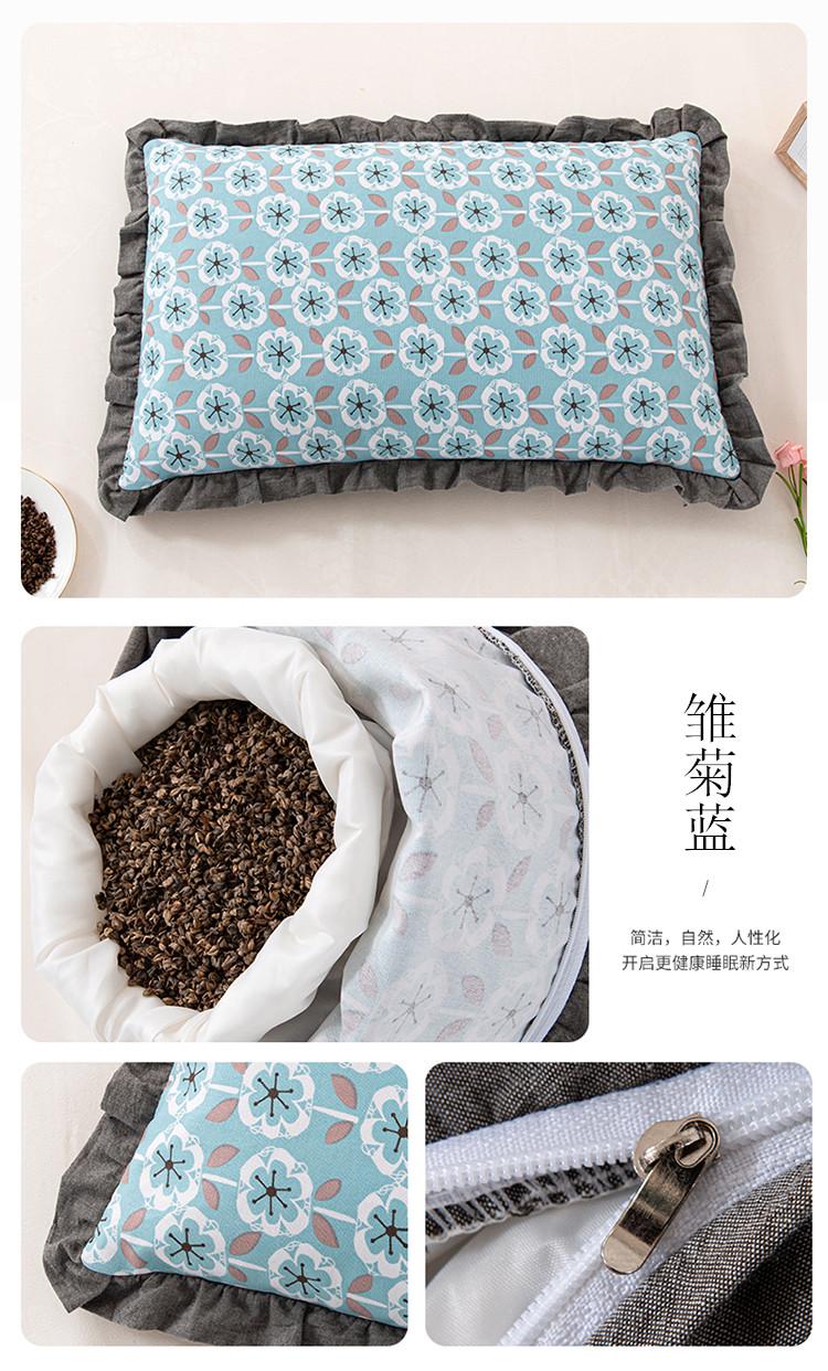 新款全棉老粗布花边荞麦枕方枕(35*55)(图18)