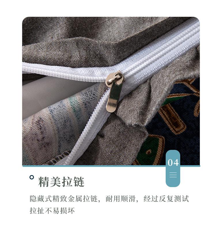 新款全棉老粗布花边荞麦枕方枕(35*55)(图14)