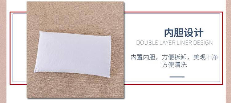南通家纺 纯色纯棉水洗棉荞麦枕花边枕头(图8)
