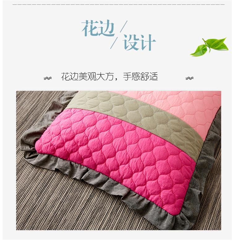南通家纺 2020新款全棉砂洗拼色荞麦枕35*55cm(图9)