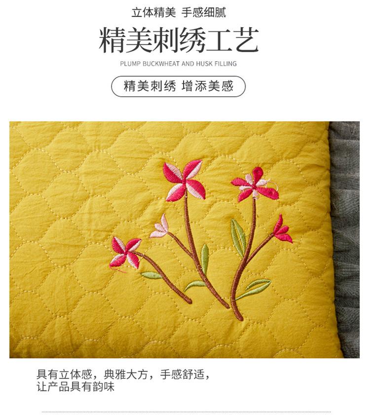 南通家纺 全棉砂洗刺绣荞麦枕30*50cm(图7)